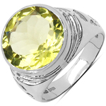 5.80 Carat Genuine Lemon Topaz .925 Sterling Silver Ring