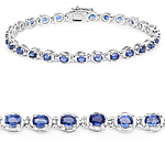 7.02 Carat Genuine Kyanite .925 Sterling Silver Bracelet