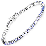 5.30 Carat Genuine Tanzanite .925 Sterling Silver Bracelet
