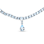 50.00 Carat Genuine Blue Topaz .925 Sterling Silver Necklace