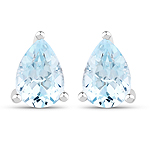 1.64 Carat Genuine Blue Topaz .925 Sterling Silver Earrings