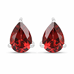 1.68 Carat Genuine Garnet .925 Sterling Silver Earrings