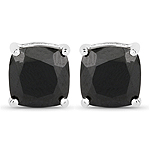 5.30 Carat Genuine Black Spinel .925 Sterling Silver Earrings