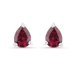 0.40 Carat Genuine Rhodolite .925 Sterling Silver Earrings