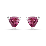 0.30 Carat Genuine Rhodolite .925 Sterling Silver Earrings