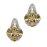 1.52 Carat Genuine Citrine .925 Sterling Silver Earrings