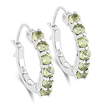 1.20 Carat Genuine Peridot .925 Sterling Silver Earrings