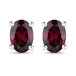 1.90 Carat Genuine Rhodolite .925 Sterling Silver Earrings
