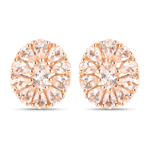 14K Rose Gold Plated 3.40 Carat Genuine Morganite .925 Sterling Silver Earrings