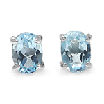 2.00 Carat Genuine Blue Topaz .925 Sterling Silver Earring