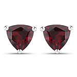1.10 Carat Genuine Rhodolite .925 Sterling Silver Earrings
