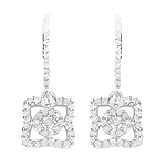 0.56 Carat Genuine White Diamond .925 Sterling Silver Earrings