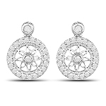 0.71 Carat Genuine White Diamond .925 Sterling Silver Earrings