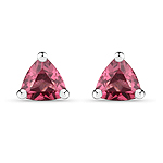 0.60 Carat Genuine Rhodolite .925 Sterling Silver Earrings