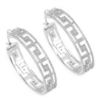 0.30 Carat Genuine White Diamond .925 Sterling Silver Earrings