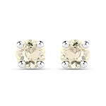 0.24 Carat Genuine Yellow Sapphire .925 Sterling Silver Earrings