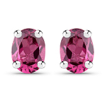 0.42 Carat Genuine Rhodolite .925 Sterling Silver Earrings