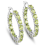 5.10 Carat Genuine Peridot .925 Sterling Silver Earrings