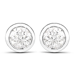 0.65 Carat Genuine White Diamond 14K White Gold Earrings