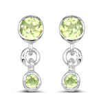 0.62 Carat Genuine Peridot .925 Sterling Silver Earrings