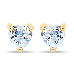 0.70 Carat Genuine Blue Topaz 10K Yellow Gold Earrings