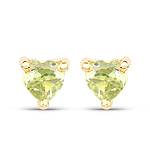 0.50 Carat Genuine Peridot 10K Yellow Gold Earrings