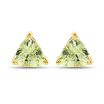 0.48 Carat Genuine Peridot 10K Yellow Gold Earrings
