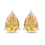 1.18 Carat Genuine Citrine .925 Sterling Silver Earrings