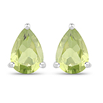 1.37 Carat Genuine Peridot .925 Sterling Silver Earrings