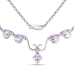 2.52 Carat Genuine Amethyst .925 Sterling Silver Necklace