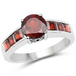 2.68 Carat Genuine Garnet .925 Sterling Silver Ring