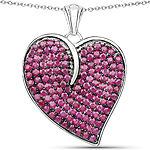 4.98 Carat Genuine Ruby .925 Sterling Silver Pendant