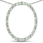 3.20 Carat Genuine Green Sapphire .925 Sterling Silver Pendant