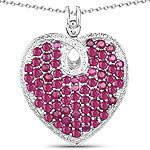 8.03 Carat Genuine Ruby .925 Sterling Silver Pendant