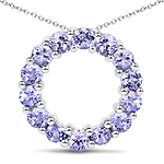 1.40 Carat Genuine Tanzanite Sterling Silver Pendant