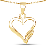 14K Yellow Gold Plated 3.10 Grams .925 Sterling Silver Pendant