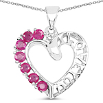 0.91 Carat Genuine Ruby .925 Sterling Silver Pendant