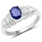 1.40 Carat Genuine Kyanite .925 Sterling Silver Ring