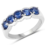 1.90 Carat Genuine Kyanite .925 Sterling Silver Ring