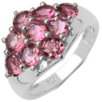 2.34 Carat Genuine Tourmaline .925 Streling Silver Ring