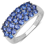 1.54 Carat Genuine Tanzanite 10K White Gold Ring