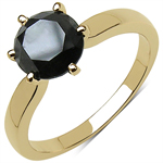 2.57 Carat Genuine Black Diamond 10K Yellow Gold Ring