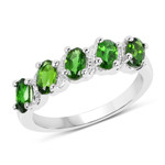 1.10 Carat Genuine Chrome Diopside .925 Sterling Silver Ring