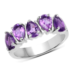1.85 Carat Genuine Amethyst .925 Sterling Silver Ring