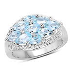 2.50 Carat Genuine  Blue Topaz .925 Sterling Silver Ring