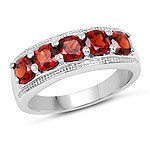 1.65 Carat Genuine  Garnet .925 Sterling Silver Ring