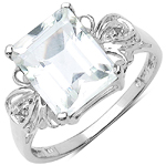 3.30 ct. t.w. Crystal Quartz and White Topaz Ring in Sterling Silver