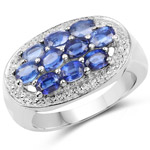 2.20 Carat Genuine Kyanite .925 Sterling Silver Ring