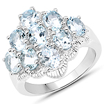 2.61 Carat Genuine Aquamarine .925 Sterling Silver Ring