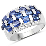 3.51 Carat Genuine Kyanite .925 Sterling Silver Ring